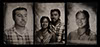 tintype tryptic of engaged couple