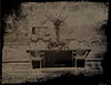 wedding tintype wetplate table setting large standing vase ghost chairs